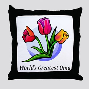 Greatest Oma Throw Pillow