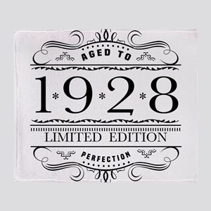 1928 Classic Birthday Throw Blanket