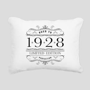 1928 Classic Birthday Rectangular Canvas Pillow