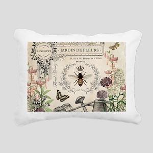 Modern Vintage French Bee Garden Rectangular Canva