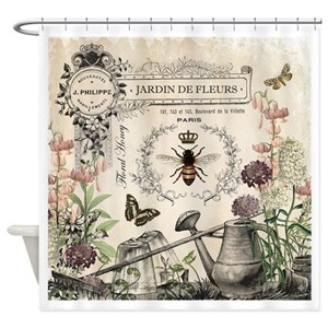 Vintage French Shower Curtains