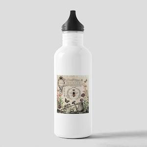 Modern Vintage French Bee Garden Water Bottle
