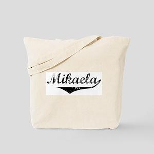 Mikaela Vintage (Black) Tote Bag