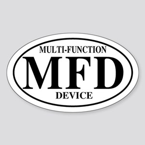 Multi Function Device Oval Sticker
