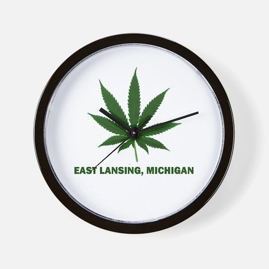 East Lansing, Michigan Wall Clock