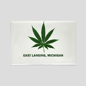 East Lansing, Michigan Rectangle Magnet