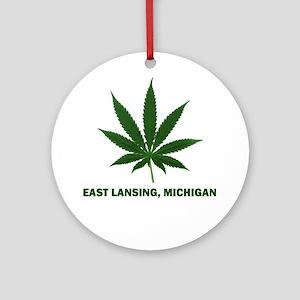 East Lansing, Michigan Ornament (Round)