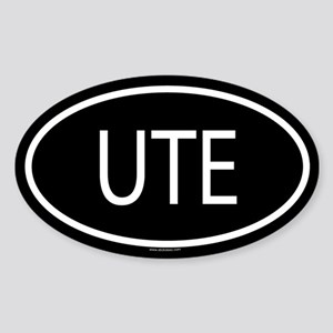 UTE Oval Sticker