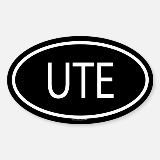 UTE Oval Decal