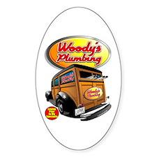 Woody's Plumbing @ eShirtLabs Oval Sticker