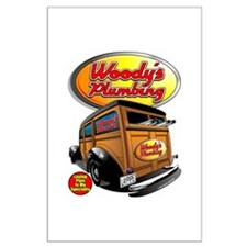 Woody's Plumbing @ eShirtLabs Large Poster