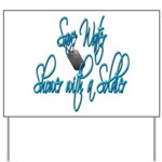 Shower with a Soldier Yard Sign