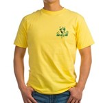 Shower with a Soldier Yellow T-Shirt