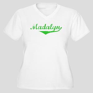 Madalyn Vintage (Green) Women's Plus Size V-Neck T
