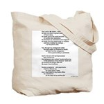 A Writer's Psalm (Poem on Back) - Tote Bag