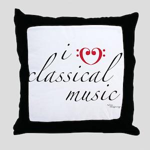 i love classical music Throw Pillow