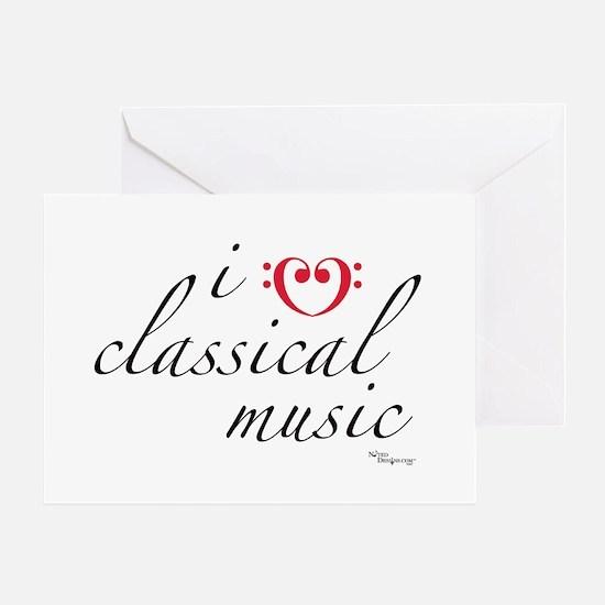 i love classical music Greeting Card