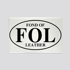 Fond Of Leather Rectangle Magnet