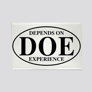 Depends On Experience Rectangle Magnet