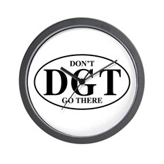 Dont Go There Wall Clock