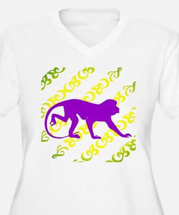 Ancient Purple Monkey Scroll  T-Shirt