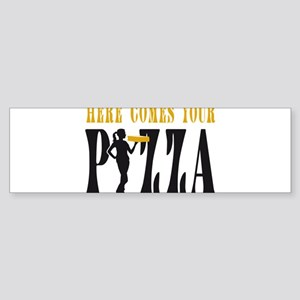 female Pizza Service Supplier Bumper Sticker