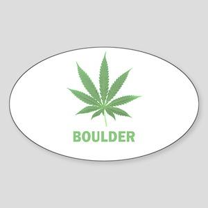 Boulder, Colorado Oval Sticker