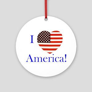I Love America! Ornament (Round)