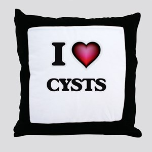I love Cysts Throw Pillow