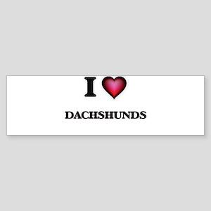 I love Dachshunds Bumper Sticker