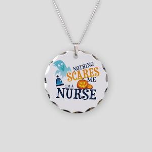 Nurse Halloween Necklace Circle Charm