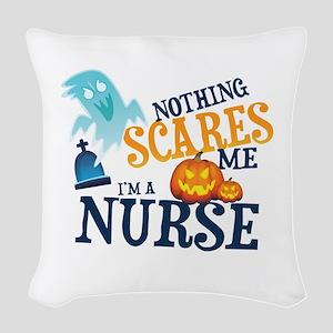 Nurse Halloween Woven Throw Pillow