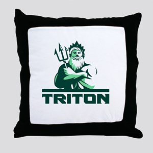 Triton Arms Crossed Trident Front Retro Throw Pill
