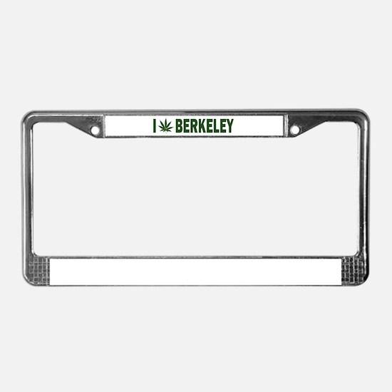 I Pot Berkeley License Plate Frame