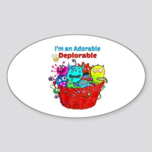 Adorable Deplorables in Trump Basket of De Sticker