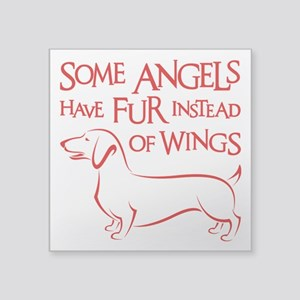 "DOXIE ANGEL Square Sticker 3"" x 3"""
