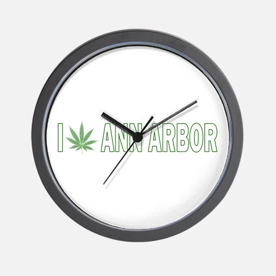 I Pot Ann Arbor Wall Clock