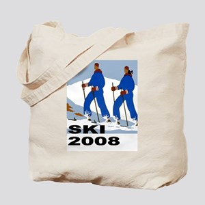 Ski 2008 Skiing Tote Bag