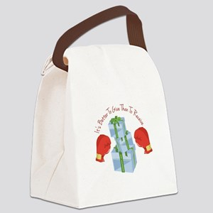 Better To Give Canvas Lunch Bag