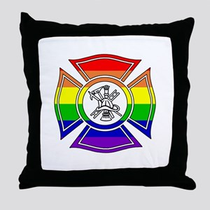 Fire Pride Throw Pillow