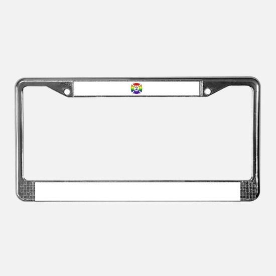 Fire Pride License Plate Frame