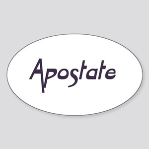 Apostate Oval Sticker