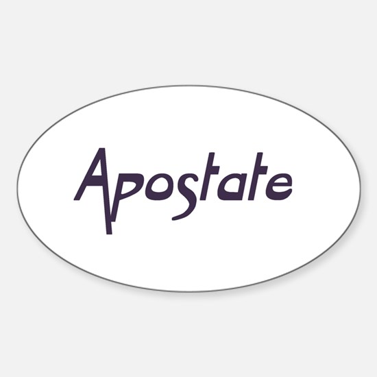 Apostate Oval Decal