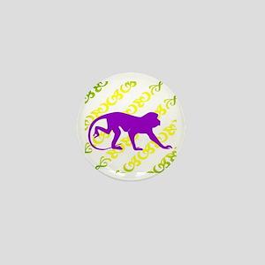 Ancient Purple Monkey Scroll Mini Button