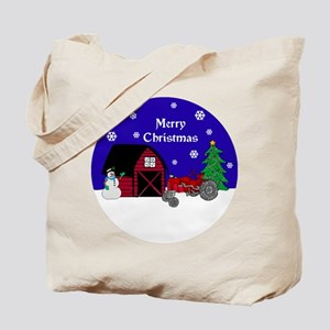 Red Tractor Christmas Tote Bag