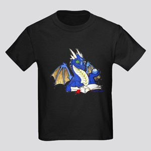 Blue Bookdragon Kids Dark T-Shirt