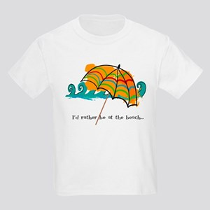 I'd rather be at the beach Kids Light T-Shirt