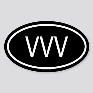 VVV Oval Sticker
