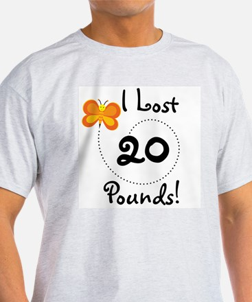 I Lost 20 Pounds White T-Shirt
