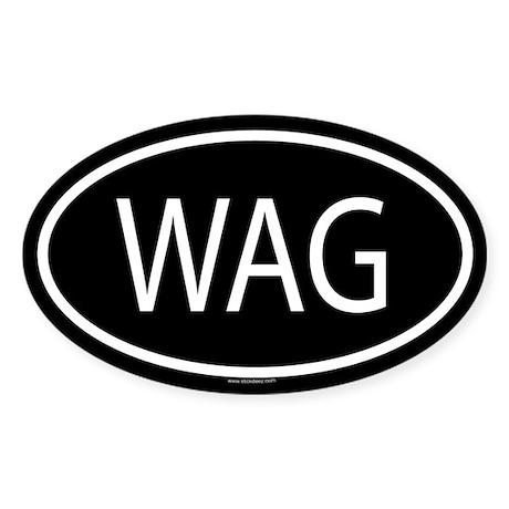 WAG Oval Sticker